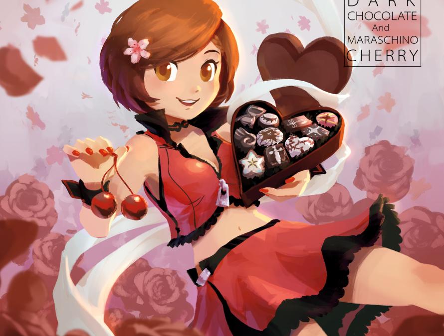 Dark Chocolate and Maraschino Cherry